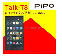 Pipo T8 Talk T8 Tablet PC 6.44'' 1920*1080 MTK6592 Octa Core 3G Dual sim 2GB RAM 32GB 13.0MP GPS Phone Call Phablet