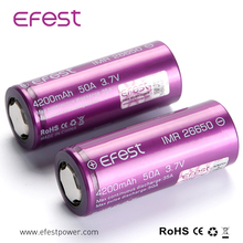 Efest 18650 3.7V 26650 4200mAh Rechargeable Battery batteries Purple