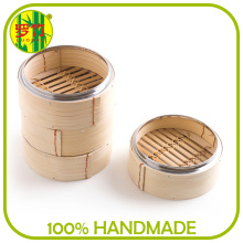 Traditional Eco-Friendly Large Customized Snack Bamboo Steamer for Sale