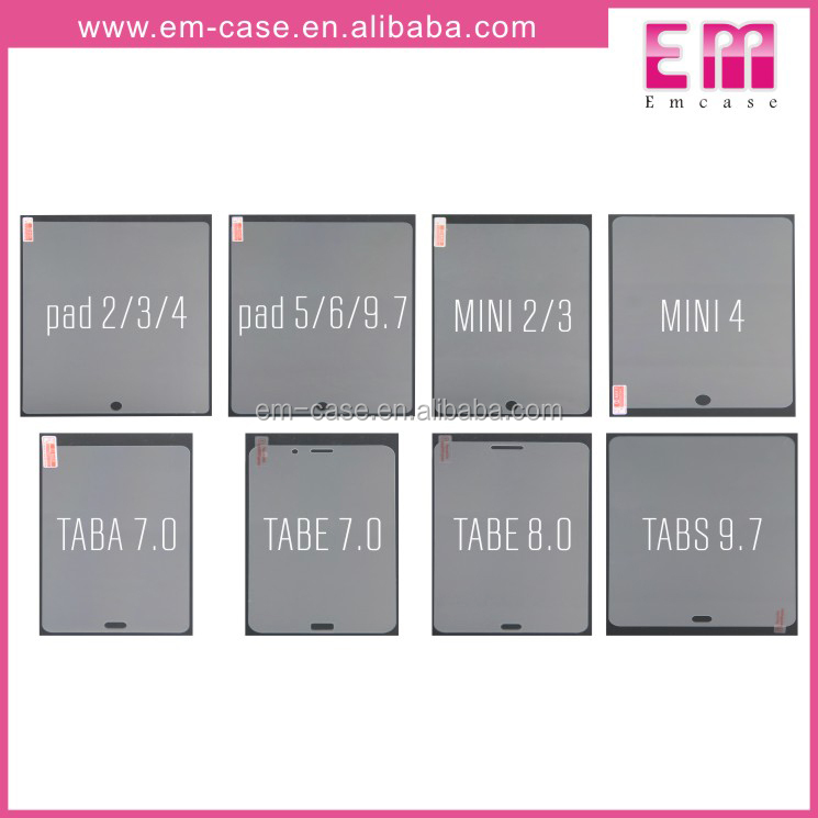Tablet Clear Tempered Glass Screen Protector For Samsung Ipad Tablet