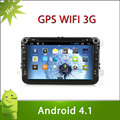 "8"" 2 din VW GOLF VI android 4.1 car DVD with Radio,GPS,Ipod,Bluetooth,SWC,Wifi,PIP,3D UI"