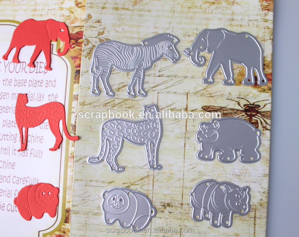 New animal collection dies cutting for scrapbooking 2016 Discount fo r free silver grey metal