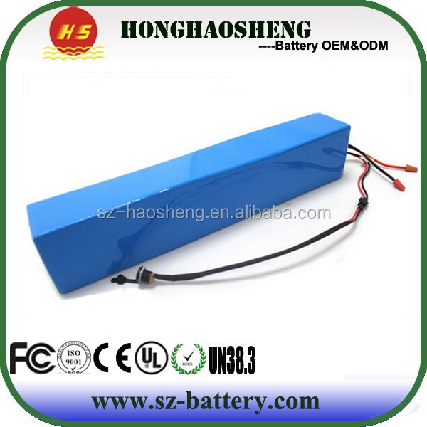 China Supplier 18650 lithium ion Rechargeable 36V 800W Battery