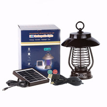 Solar Rechargeable Electric Pest Control Product Outdoor Mosquito Killer UV Bug Zapper
