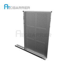 AEOMESH Construction Safety Barricades Aluminum Fence Barricade