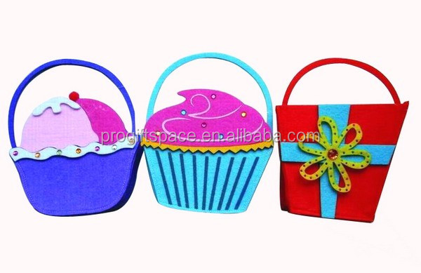 2017 new eco polyester felt fancy children bag for candy gift toy storage custom manufacturer China OEM ODM