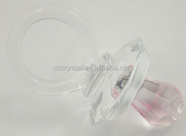 baby shower gifts crystal pacifier MH-LP0116
