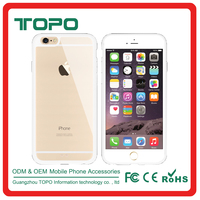 Wholesale Hard Back PC Plastic Transparent clear tpu bumper Cell mobile phone Cover Case for iPhone 6 6s 6plus