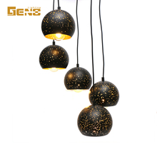 light fixture home pendant , black metal hole pendent lamp wholesale