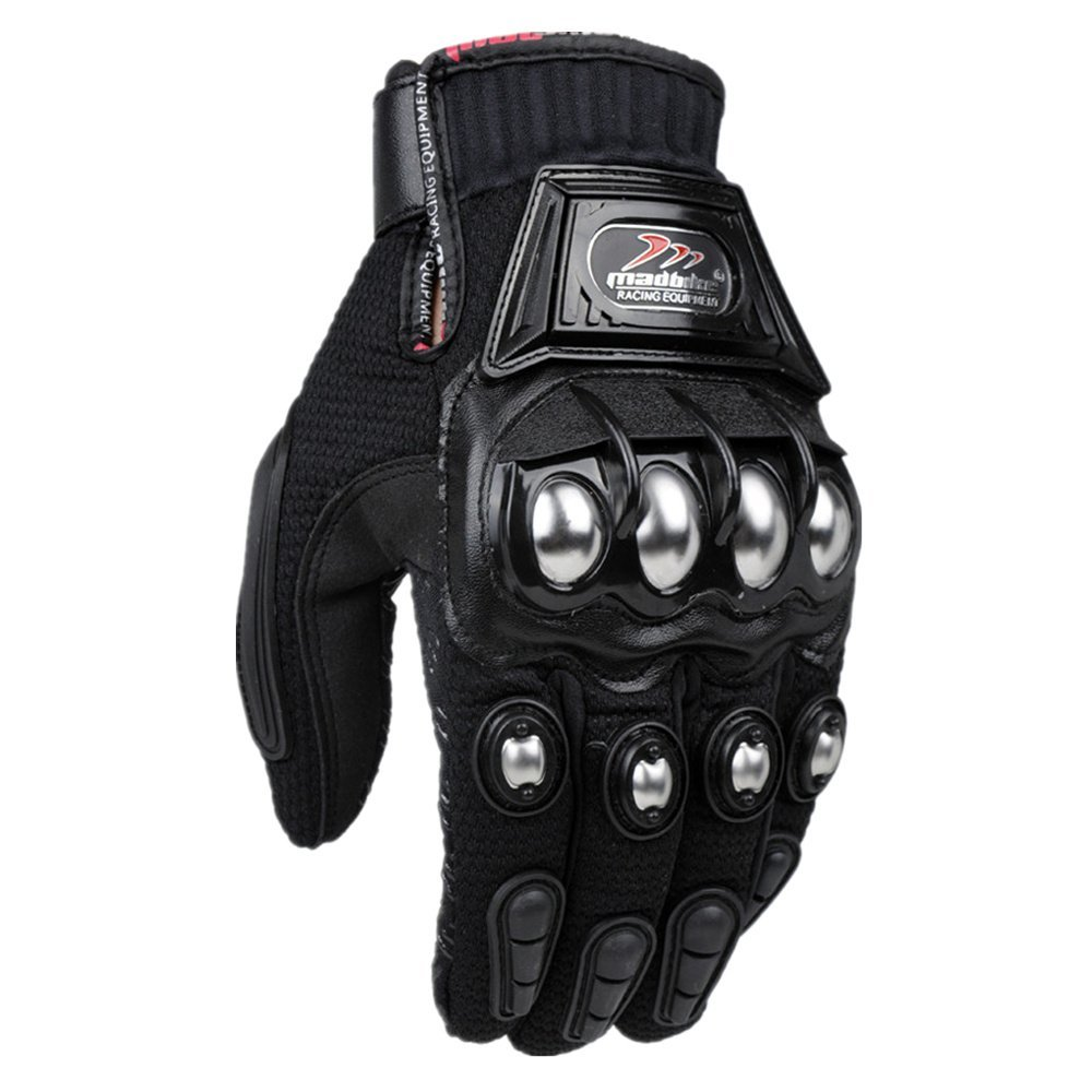Alloy Steel Knuckle Motorcycle Motorbike Powersports Racing Tactical Paintball Gloves