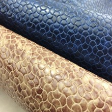 Newest embossed faux snake skin leather