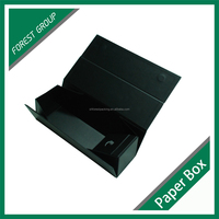 LUXURY PAPER GIFT BOX HOT FOIL WINE GIFT PACKING BOX WITH FOLDABLE