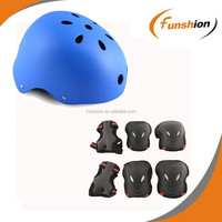 Unisex matt blue and orange custom skate helmet, inline skate parts