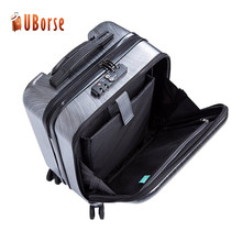 Front opening pocket ABS/PC luggage,abs briefcase luggage