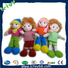 2015 New products Cheap Top Quality Plush Stuffed Baby Doll for Promotion