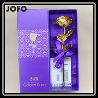 China Wholesale Free Gift Artificial Gold Foil Rose Flower For Valentine Day MIXJ0038