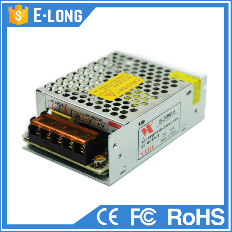 5v 12v 24v Power Supply Unit 50w Small Size LED Driver Unit