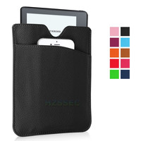 Portable PU leather wallet case for Amazon Kindle Oasis high quality black pocket bag
