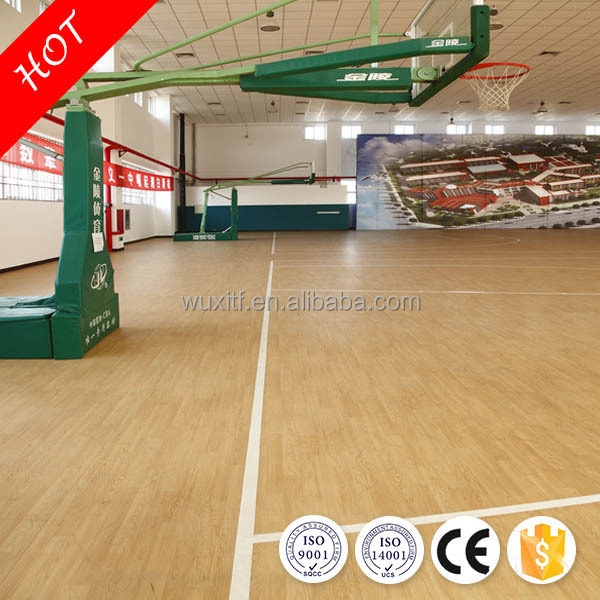 Competitive synthetic plastic pvc sports indoor basketball flooring price roll for sale