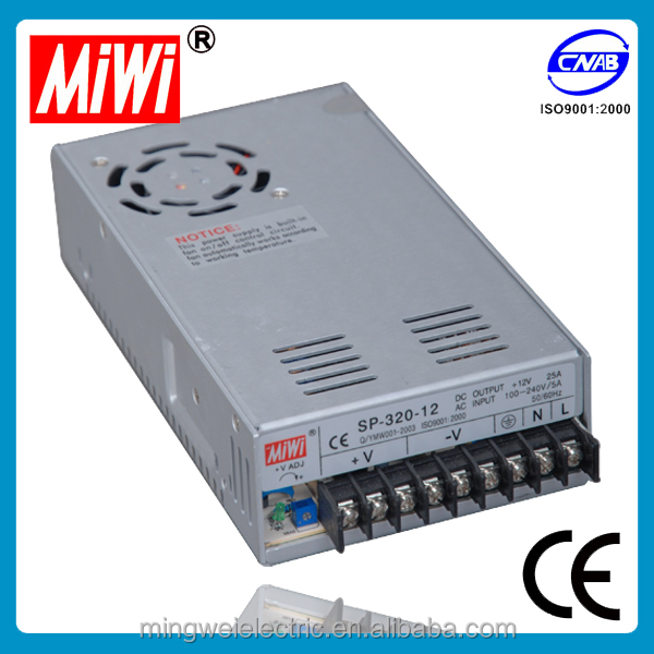 SP-320 series 320w 120vac to 12vdc power supply with PFC function