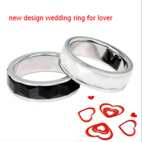 2014 Wholesale gold rings design for women latest wedding ring designs stainless steel and ceramic ring