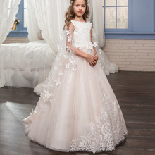 elegant children first communion dresses baby girl dresses girls of 7 years old kids party wear ball gowns