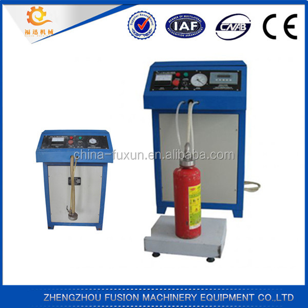 Automatic fire extinguisher powder filling machine/fire extinguisher nitrogen filling machine