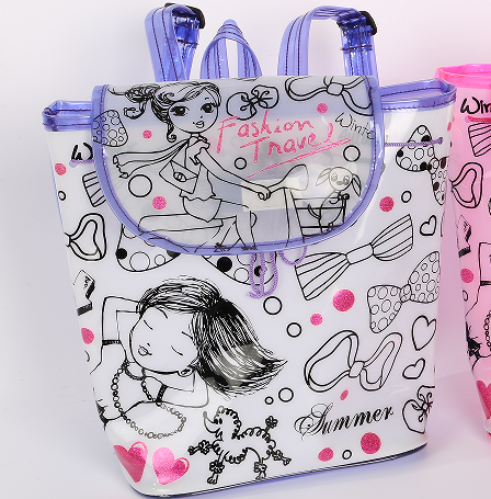 Kid craft DIY colorful Coloring Handbag graffiti bag FMBA15209 top quality competitive <strong>price</strong>