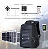 Flexsolar Hiking Daypack Packable Durable Light Camping Outdoor Sports Waterproof solar power charger panel backpack bag