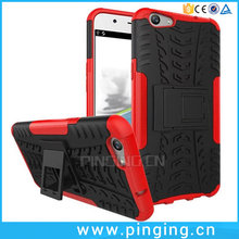 Impact Shockproof PC TPU Hybrid 2 In 1 Back Case Cover For OPPO F1S Kickstand Case