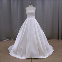Luxury Rhinestone alie saab wedding dress