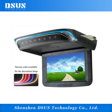 9 inch TIANMA new 16:9 digital LCD panel DVD CD MP4 roof mounted car dvd player flip down roof car monitor