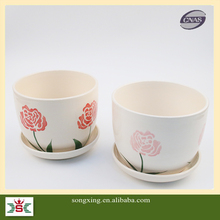 Hot sale there is base painting designs big size ceramic flower pot