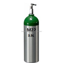 CE Approved DOT M22 3.9L empty medical portable oxygen cylinder with CGA870