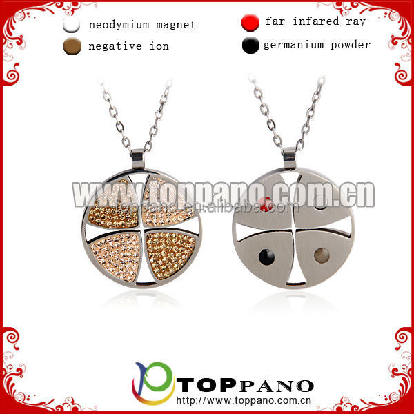 energy fashion stainless steel <strong>pendant</strong> with 4 in 1 energy