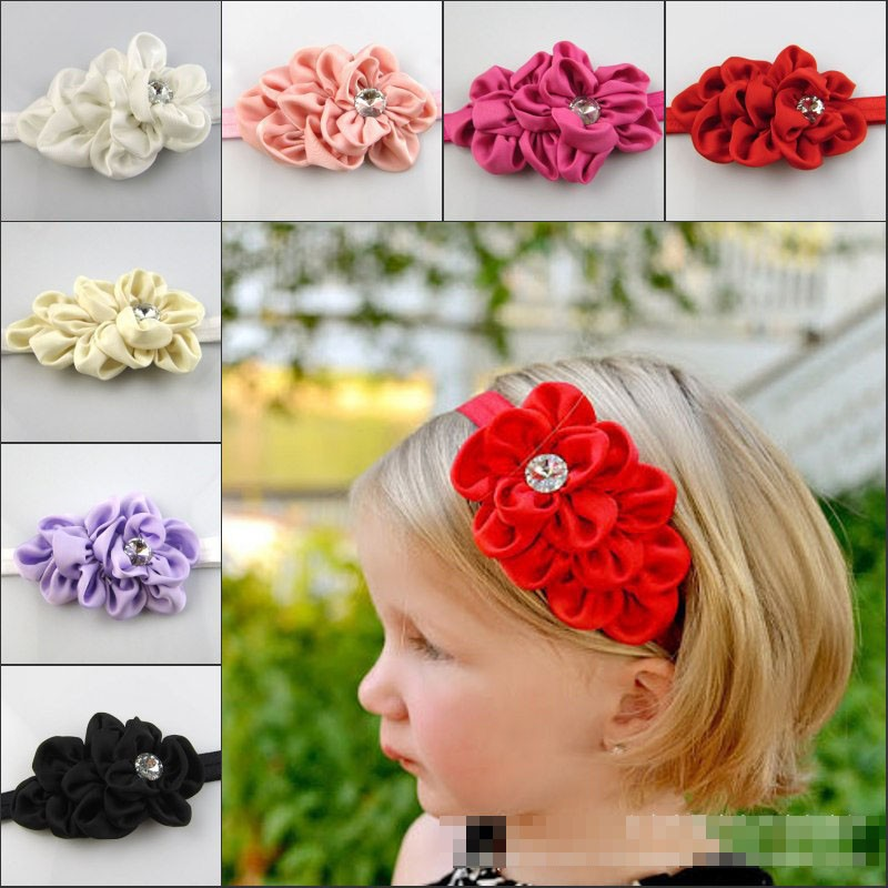 Newest Baby Girl Infant Toddler Mini Headband Flower Bow Headwear Hair Band