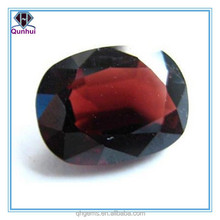 elegant and beautiful wine red oval shaped gems stone
