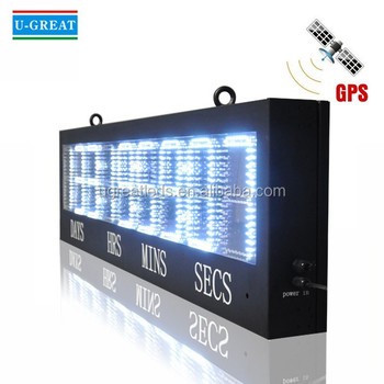Days hours minutes seconds countdown digital clock