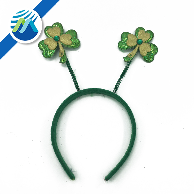 Wholesale Green Four Leaf Clover Patrick Headband Saint Patrick's Day I'm Irish Headband