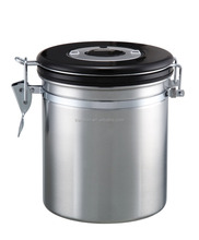 stainless steel coffee canister with air hole 1200ML