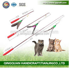 New Telescoping Fishing Rod Spin Feather Cat Wand Cat Teaser Toys