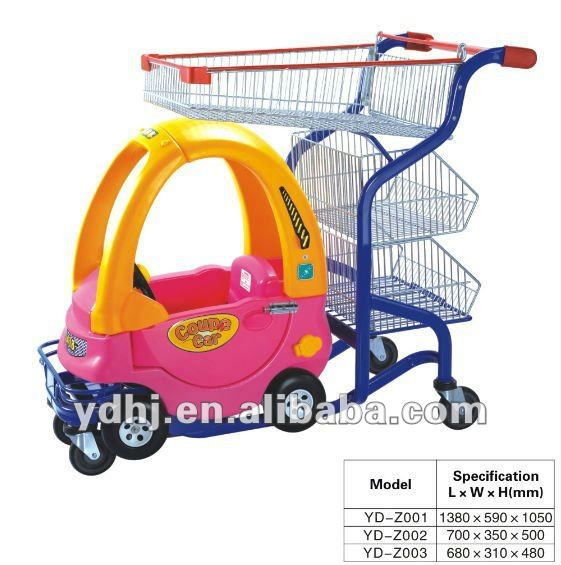 Top Quality!!! Supermarket Kids/baby/children trolley cart With Toy Car