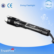 TrustFire J2 Waterproof LED Scuba Dive Flashlight,Rechargable Diving Torch Light,Flashlight Wholesale Hunting and Fishing