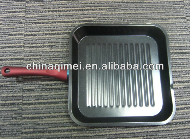 carbon steel non stick BBQ grill pan