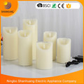Rechargeable candles Led Moving flame candle electronic holiday candle