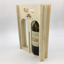 Horns style butterfly hinges wooden wine box