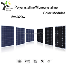 polysilicon solar 12v dc 130 watt power solar pannels