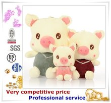Promotional custom stuffed plush pig animal toys, walking plush pig toy