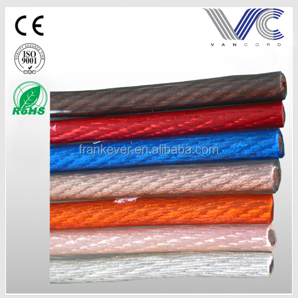 High quality low voltage CCA conductor PVC insulated car power cable