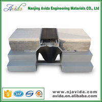 Building construction rubber expansion joints in concrete